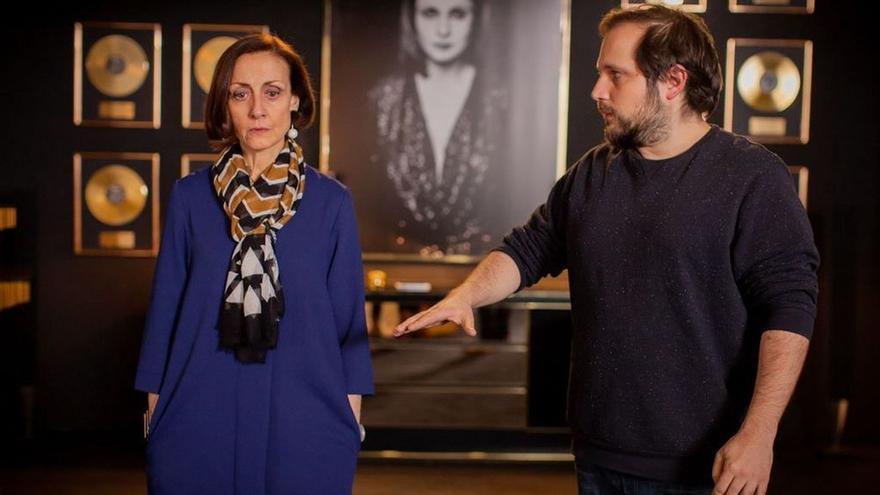 Carlos Vermut y la actriz Carme Elías