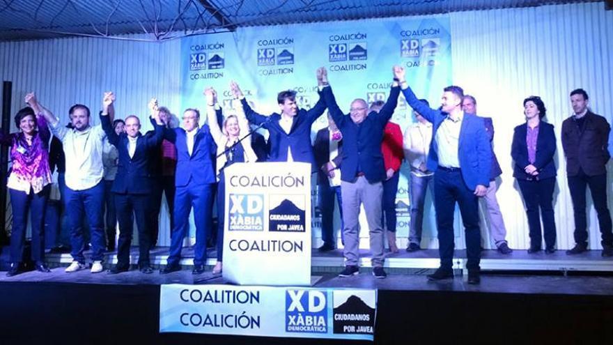 Xàbia Democrática, cuando presentó su coalición con Ciudadanos por Jávea