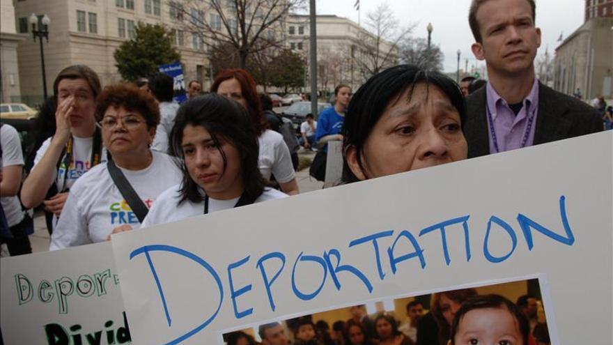 Manifestación contra la deportación de inmigrantes.