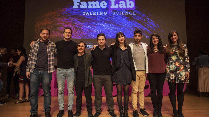 Participantes del Famelab.