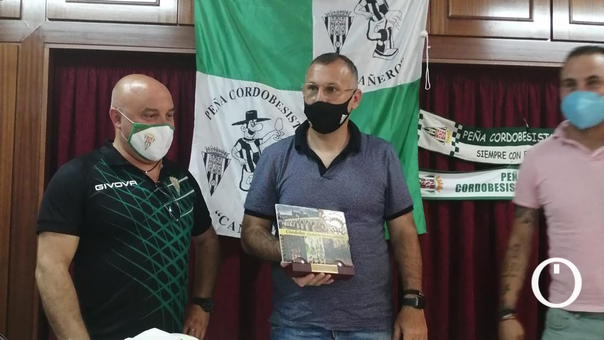 Javi Moreno, en el acto de la Peña Cañero