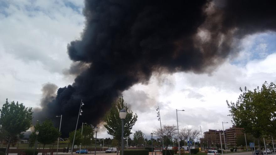 Incendio en Seseña, vista desde la urbanización 'El Quiñón'
