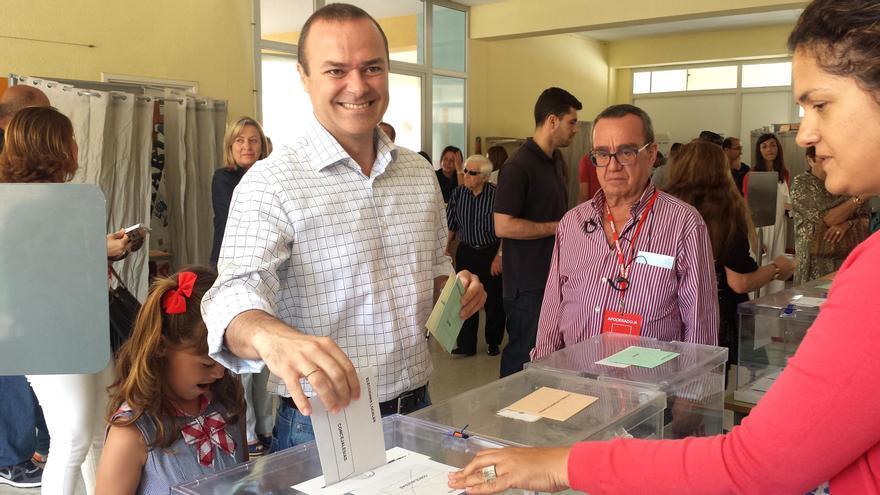 El candidato del PSOE a la alcaldía de Las Palmas de Gran Canaria, Augusto Hidalgo