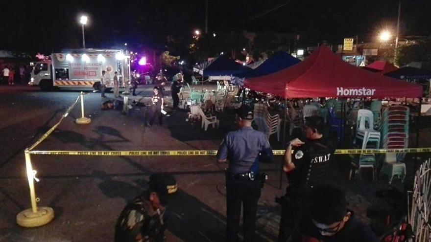 Al menos 10 muertos y 60 heridos en una explosión en el sureste de Filipinas