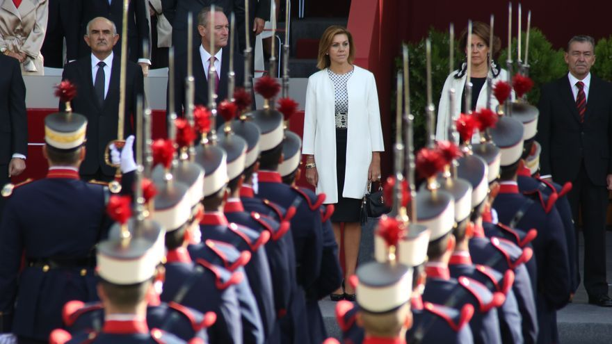 Cospedal en el Día de las Fuerzas Armadas en 2014