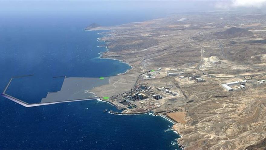 Imagen del proyecto del puerto de Granadilla