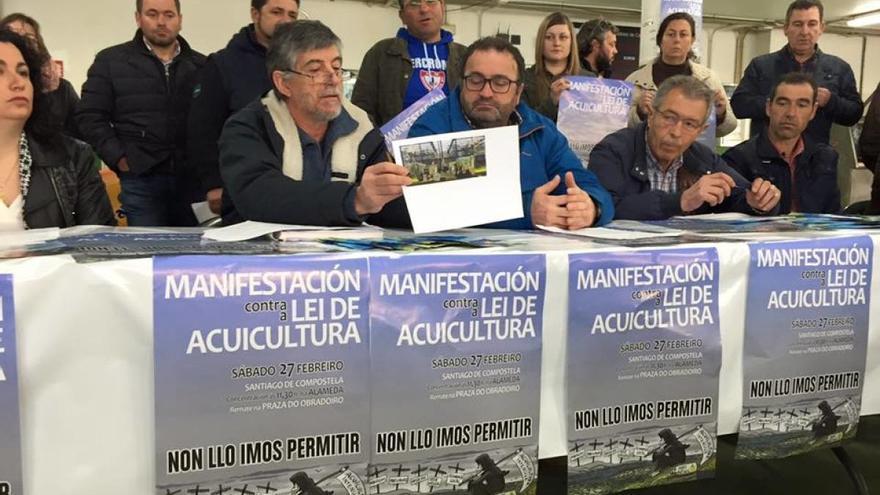 Representantes de entidades convocantes de la protesta