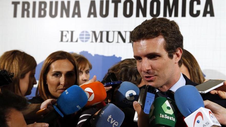 """Casado desea """"lo mejor"""" al PSOE que debe representar a la izquierda moderada"""