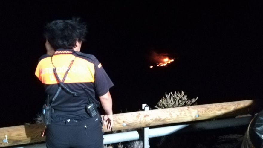 Incendio en el Complejo Medioambiental de El Revolcadero de San Sebastián de La Gomera