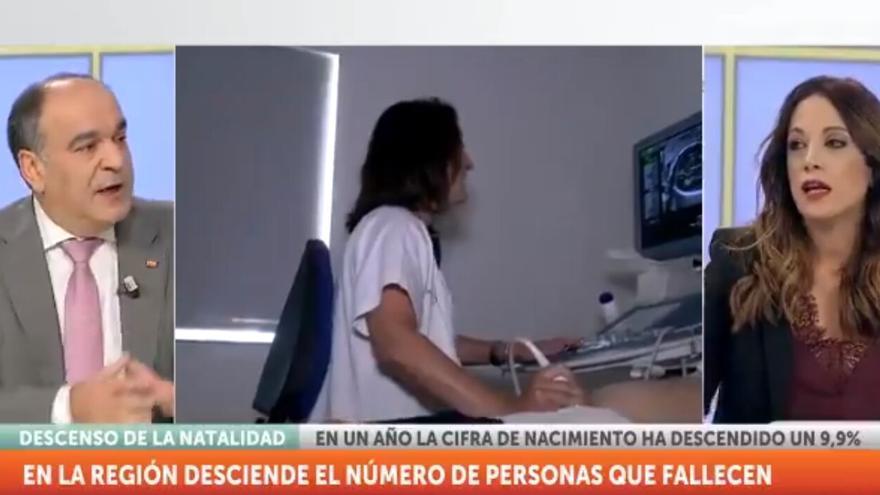 Captura del debate de 7 TV Región de Murcia