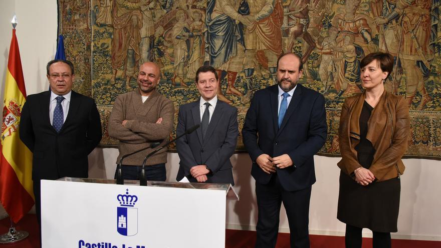 Acto de presentación del acuerdo presupuestario PSOE-Podemos en Castilla-La Mancha / JCCM