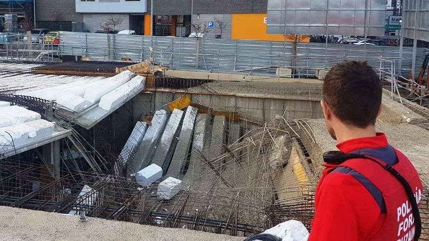Imagen de archivo de un accidente laboral en una obra de Burlada (Navarra).