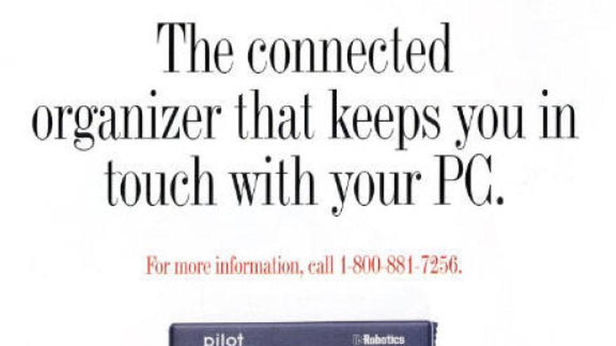 'PalmPilot, la agenda conectada que te mantiene en contacto con tu PC'
