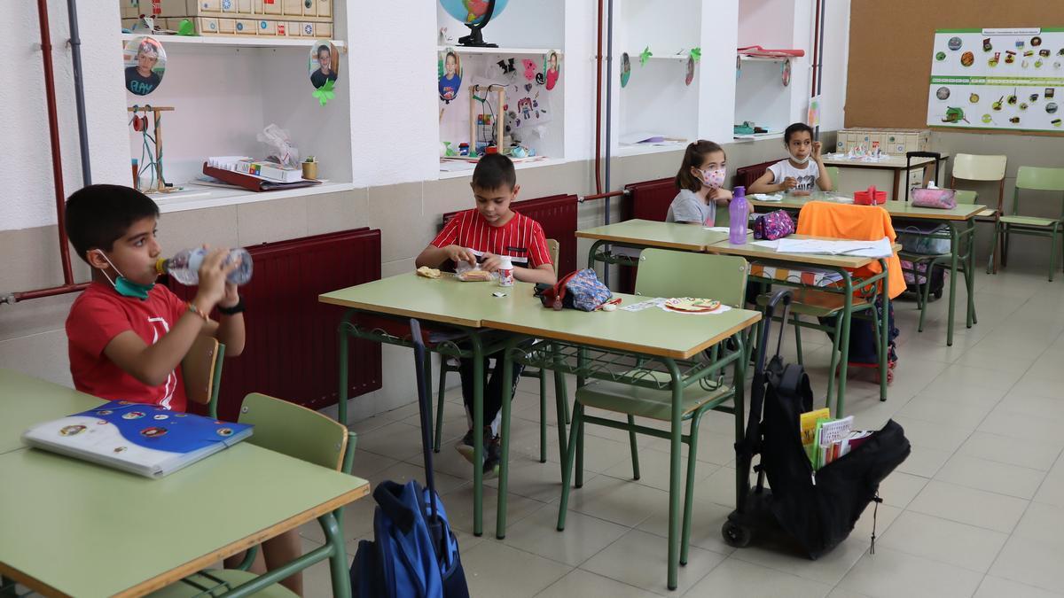 Alumnos en las aulas castellanomanchegas