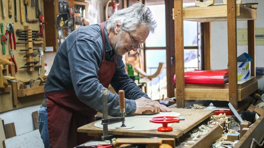 El taller de Marvi, en La Alpujarra.