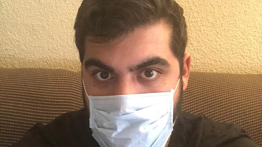 Paco, cordobés de 31 años con coronavirus.