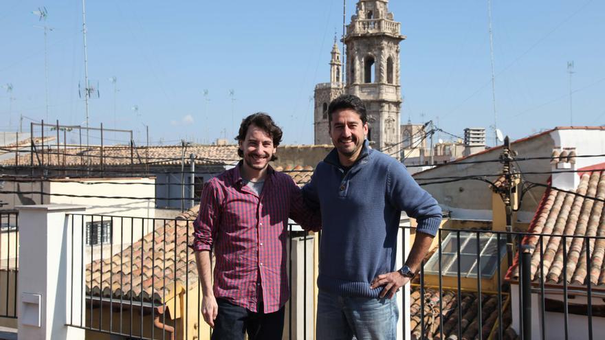Jaime Paulino, secretario general de Podemos en Valencia, y Jordi Peris, de València en Comú.