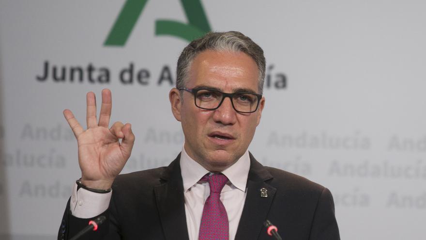 El consejero y portavoz del Gobierno andaluz, Elías Bendodo.