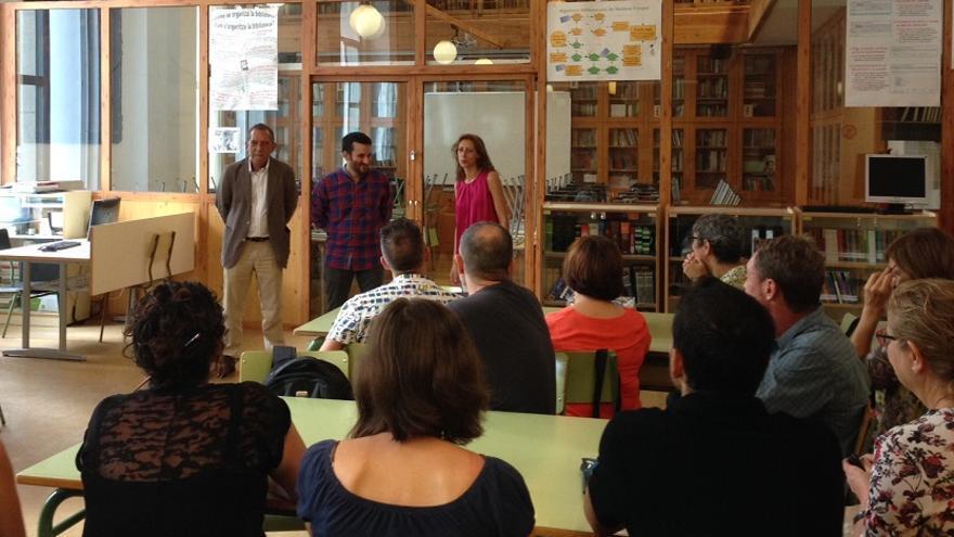 Imagen de la apertura del curso de Vicent Marzà en el IES Lluís Vives