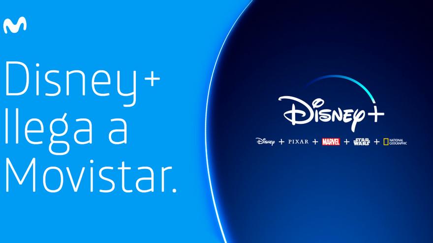 Imagen facilitada por Movistar al anunciar su alianza con Disney+