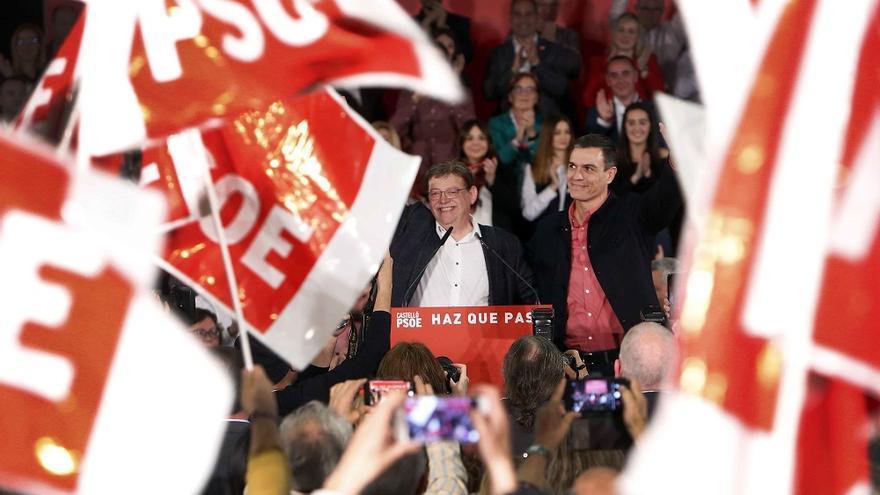 Ximo Puig y Pedro Sánchez en Castellón