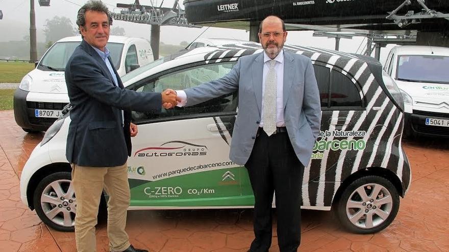 Cabárceno dispondrá de cinco vehículos eléctricos para uso del personal