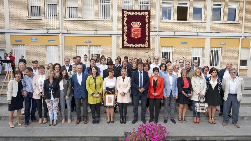 Barkos destaca la importancia del instituto de Marcilla en el desarrollo de la zona