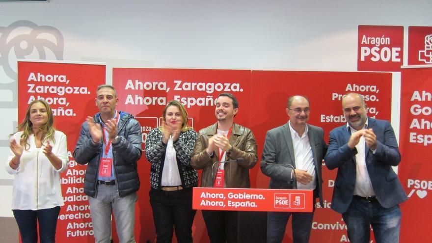 """Lambán confía en que el PSOE lidere un gobierno """"fuerte"""" en España, aunque los adversarios no lo faciliten"""