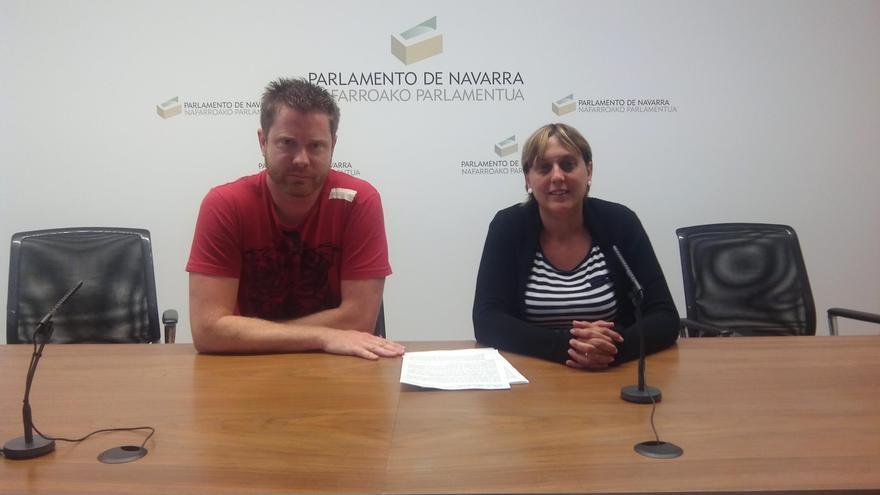 Álvaro Carasa y Eva González, concejales de Izquierda - Ezkerra en el Valle de Egüés.