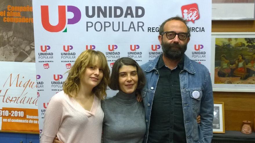 Rebeca González, Magdalena Martínez y José Daniel Espejo