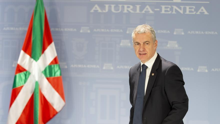 El lehendakari, Iñigo Urkullu, este lunes en el Consejo de Gobierno extraordinario