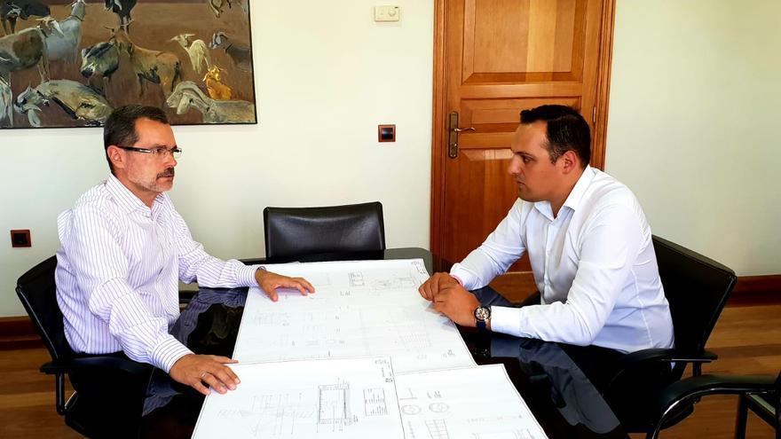Reunión de Marcial Morales y Jonathan Felipe.