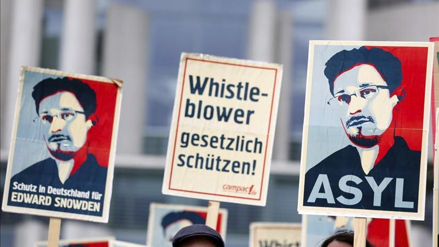 Manifestación a favor de Edward Snowden