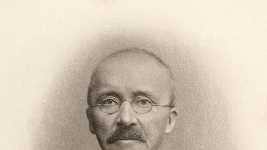 Retrato de Heinrich Schliemann.