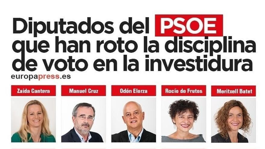 Diputados socialistas del 'No a Rajoy' recurren la multa por injusta e inconstitucional: No es buena política, avisan
