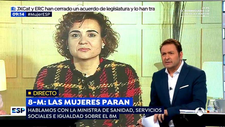 Espejo Público, presentado por Albert Castillón este 8M