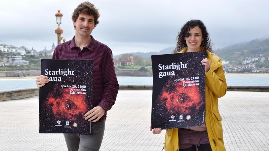 San Sebastián se suma a 'La noche internacional en defensa de la luz de las estrellas'