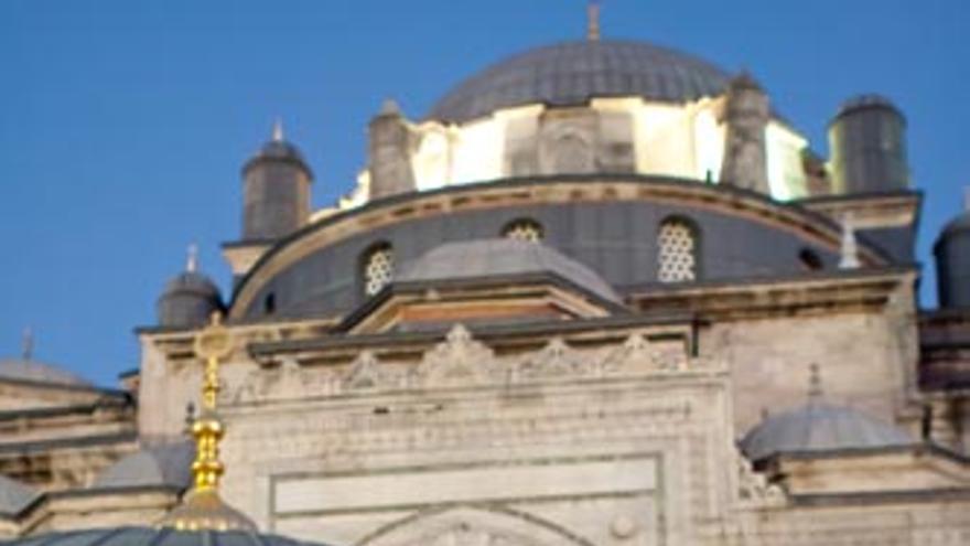 Patio de las Abluciones de la Mezquita Beyazit, a poca distancia del Gran Bazar.