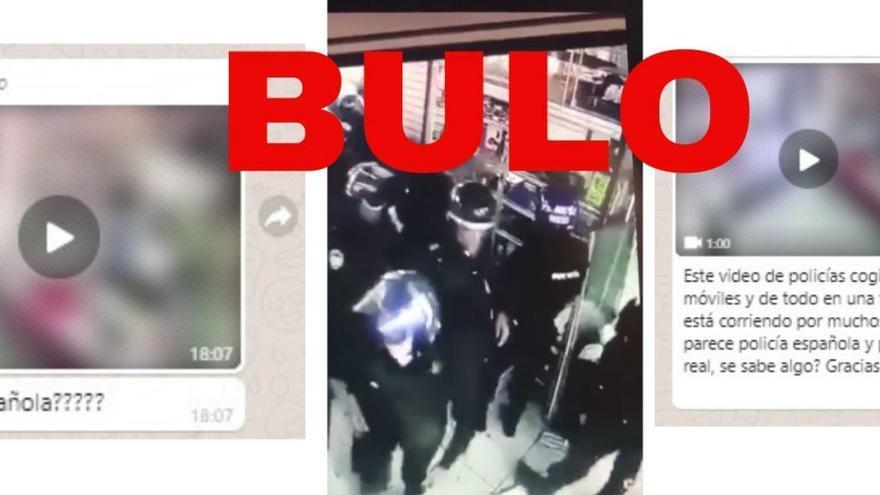 Policías robando en una tienda en México