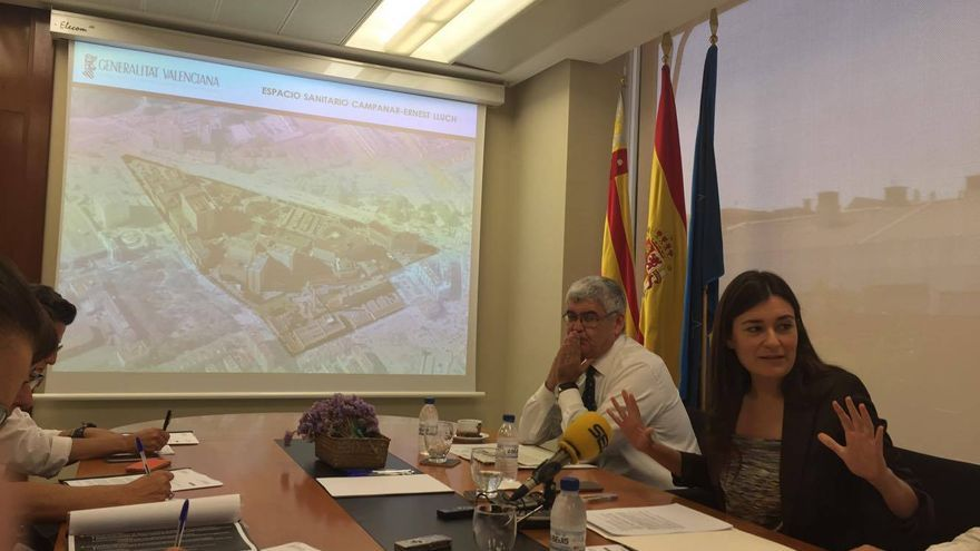 La consellera de Sanidad, Carmen Montón, en la presentación del Espacio Sanitario Campanar-Ernest Lluch