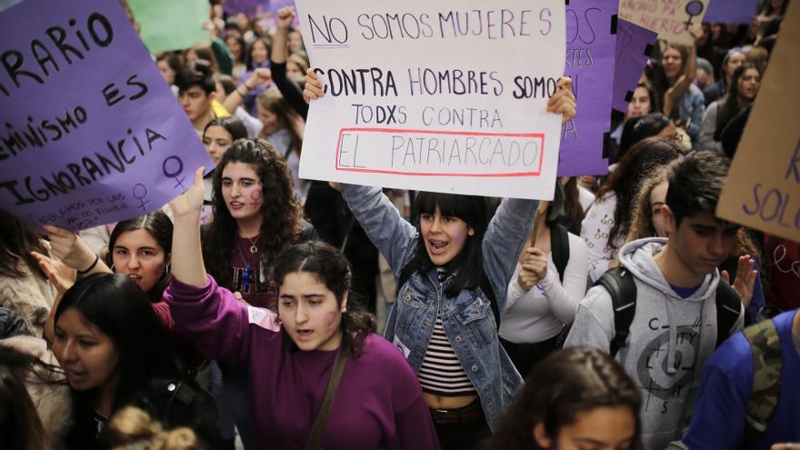 Manifestación estudiantil del 8M en Madrid. Olmo Calvo