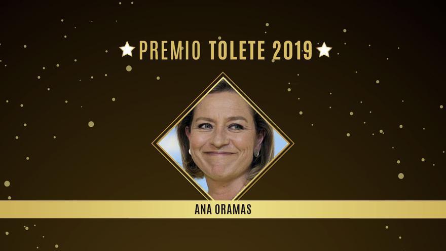 La diputada de Coalición Canaria Ana Oramas, Premio Tolete 2019.