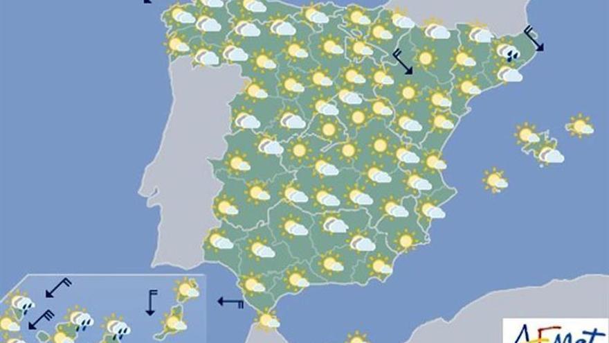 Lluvias débiles en Cantábrico, Cataluña, Extremadura y ambas Castillas
