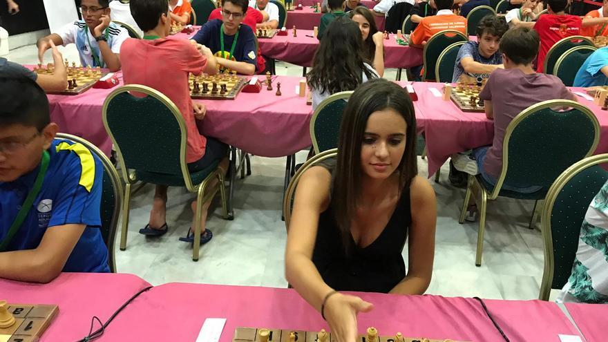 Adhara Rodríguez durante el Campeonato de España