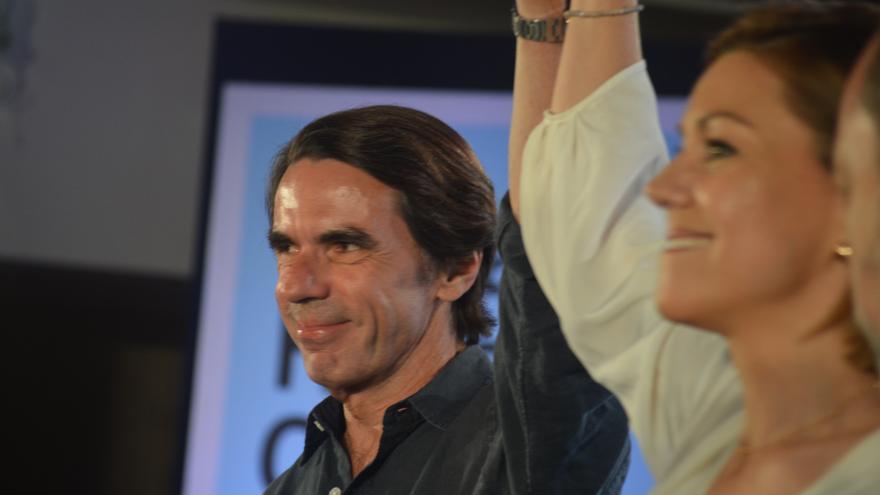 Aznar arropa a María Dolores de Cospedal / Foto: Javier Robla