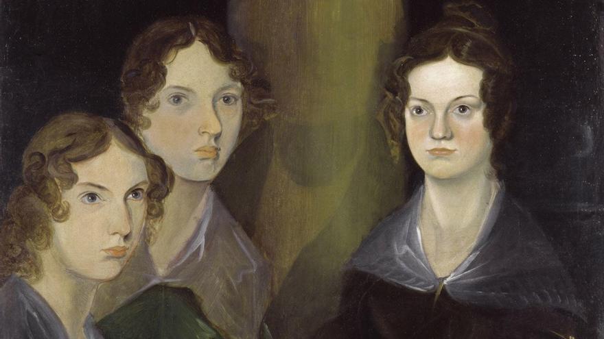 Retrato de las tres hermanas, creadoras de varios clásicos de la literatura. (DP).