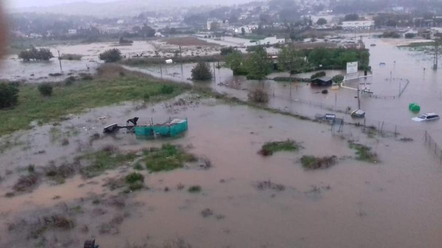 Aspecto del albergue que ha acogido a los evacuados en Xàbia durante esta madrugada.