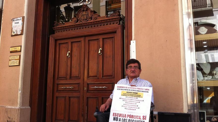 Antonio Aramayona, en la casa de la consejera de Educación de Aragón