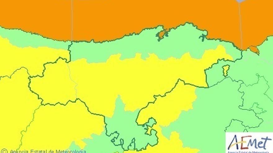 Cantabria estará este viernes en aviso por nevadas y oleaje