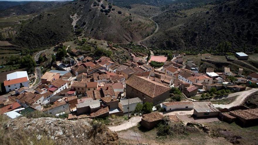 El municipio de Aladrén, con un censo de poco más de 50 habitantes.